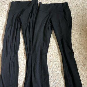Two pairs of lululemon leggings